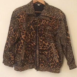 Jackets & Blazers - *Vintage* Animal Print Silk Jacket
